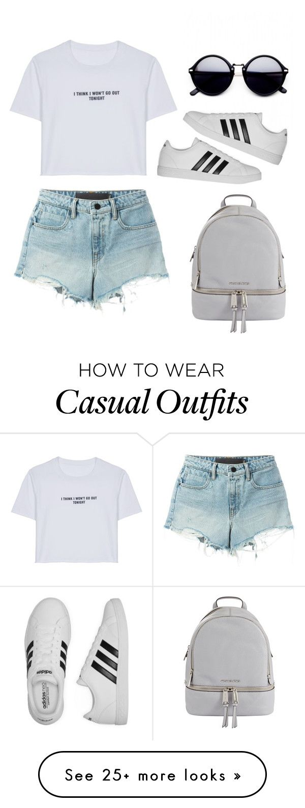 """Casual"" by guille-ballesteros on Polyvore featuring MICHAEL Michael Kors, WithChic, T By Alexander Wang, adidas and vintage"