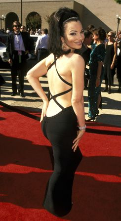 Fran Dresher's Emmy band aid dress.