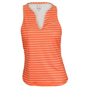 For a flattering fit in high performance fabric, you can't beat the Nike Women's Stripe Pure Tennis Tank! #nike #tennis #tank tops