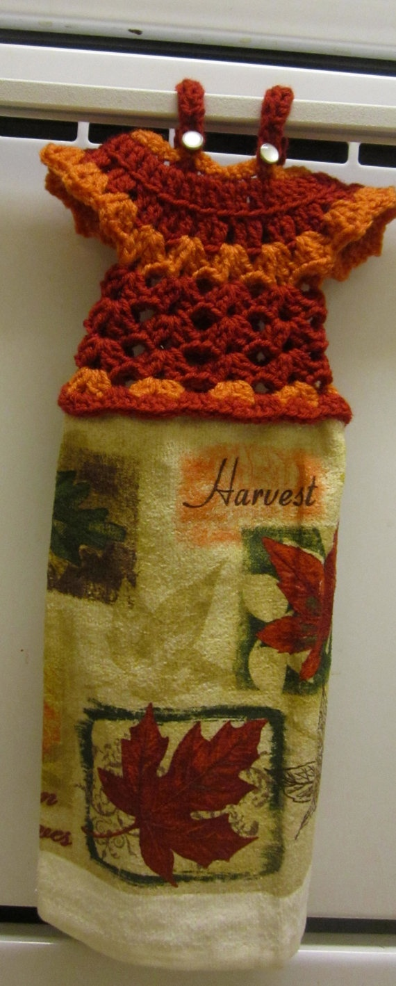 Crocheted Dress Towel Topper $8.00