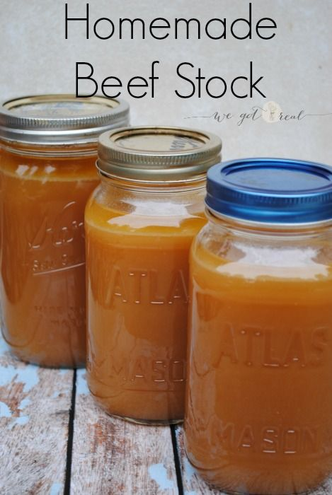 Homemade beef stock.  A delicious and nutritious real food kitchen staple.