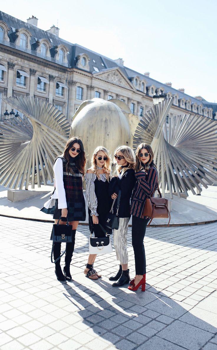Paris girl gang, #pfw: http://www.ohhcouture.com/2016/10/paris-update-pfw/   #paris #ohhcouture #leoniehanne