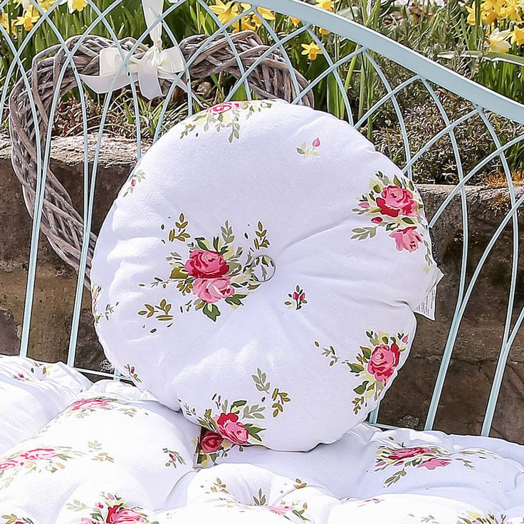 Floral Round Seat Pad