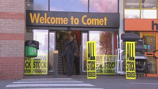 Comet To Close 'Up To 40 Stores'