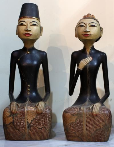 Javanese Loro Blonyo - inseparable couple sculpture, is a symbol of prosperity and harmony