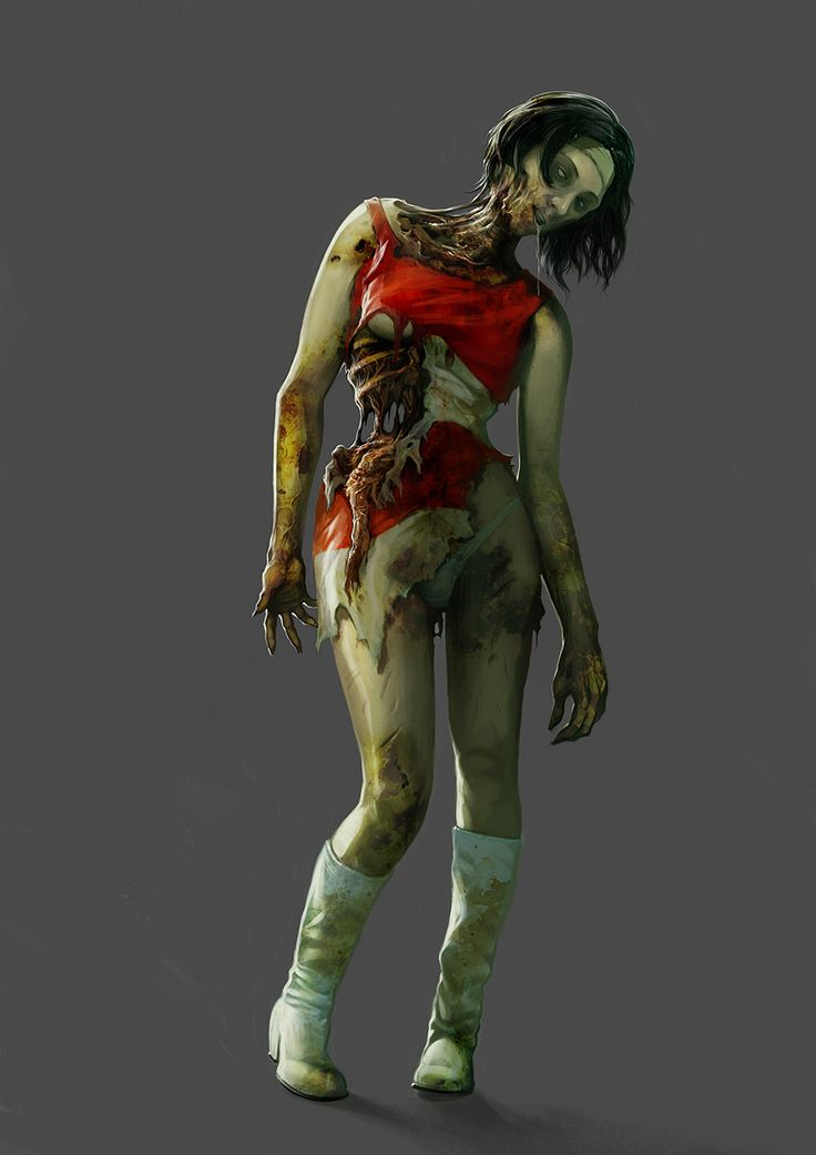 the gallery for gt female zombie concept art