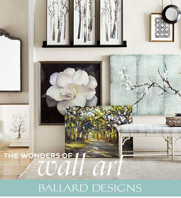 Make Your Wall Art Wonderful With Ballard Designs Home Wall Decor Decor Wall Decor