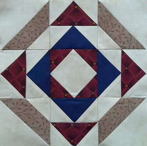 Block #16 - Pattern is Emancipation Proclamation by Evonne Cook of Clothesline Quilts.