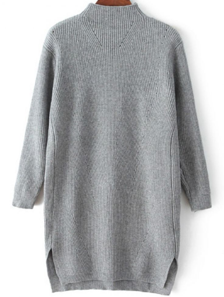 . . Grey Sweater Dress from abaday.com . .