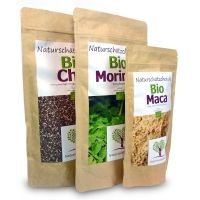 3 x Superfood - Bio Chia, Bio Moringa und Bio Maca