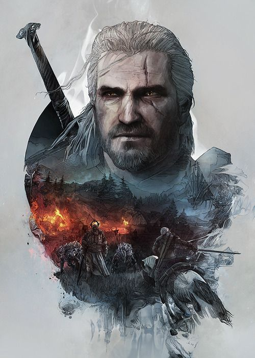 The Witcher 3: Wild Hunt Steelbook Artwork - Krzysztof Domaradzki