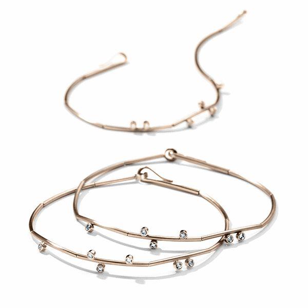 Henrich + Denzel - Tau Armband - 750 Roségold - Diamanten +++ Henrich + Denzel - Tau Armlet - 18k Rose Gold - Diamonds