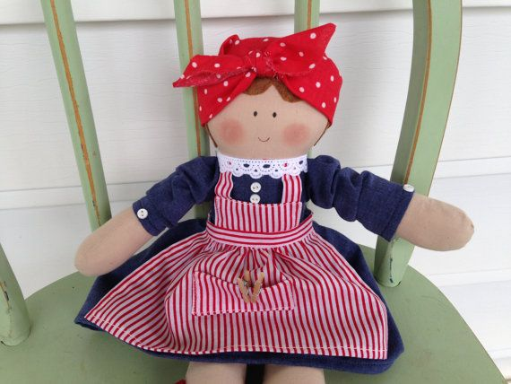 Handmade Mrs. Wishy Washy Doll, Early Childhood Storybook Character, Adorable! on Etsy, $30.00
