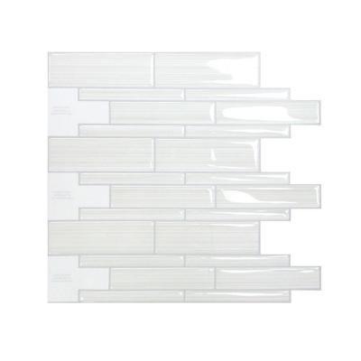 Smart Tiles Infinity Blanco In X In Mosaic