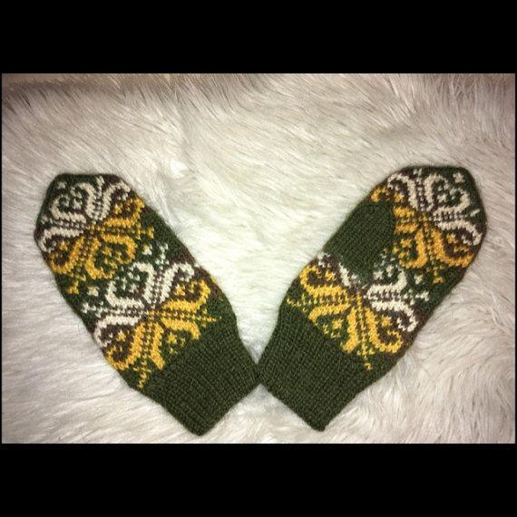 100% Norwegian wool hand made knitted mittens from от NorwayWool