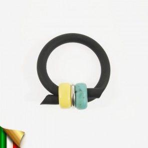 Bracciale Aurora Giallo Turchese, in plexiglas, made in Italy