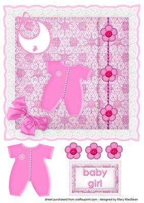 Baby Girl Knitted Cushion