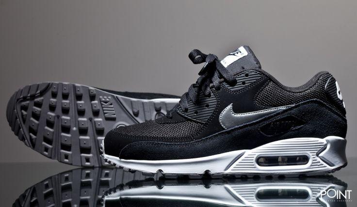 Zapatillas Nike Air Max 90 Essential Negro Blanco, #Sneakers #Zapatillas