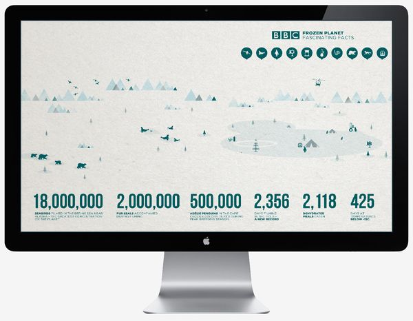 BBC Frozen Planet - Illustration (Personal) by Jonathan Quintin, via Behance