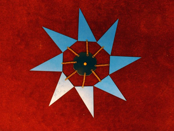 kerst met blauwe driehoeken