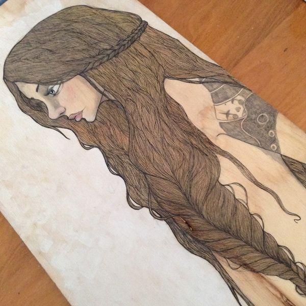 The Girl and the Tattoo. by Danita Mendoza, via Behance
