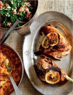 Marokkansk kylling med syltet citroner og tabouleh