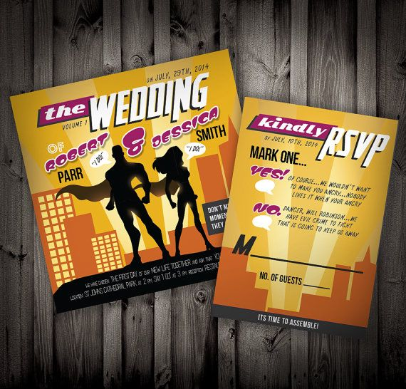Superhero Wedding Invitations