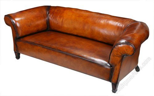 Victorian Leather Chesterfield Sofa - Antiques Atlas