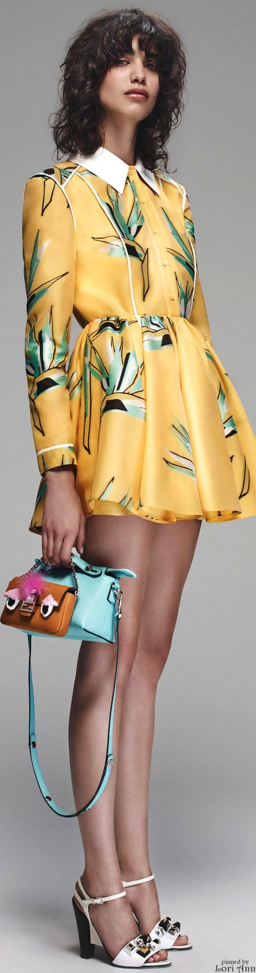 Fendi Resort 2016 women fashion outfit clothing style apparel @roressclothes closet ideas
