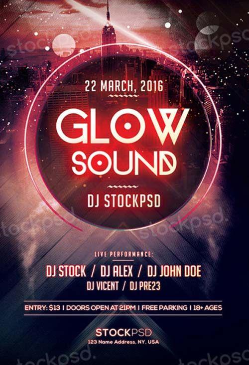 Glow Sound Free PSD Flyer Template - http://freepsdflyer.com/glow-sound-free-psd-flyer-template/ Enjoy downloading the Glow Sound Free PSD Flyer Template created by Stockpsd!  #Club, #Dj, #EDM, #Electro, #Nightclub, #Party