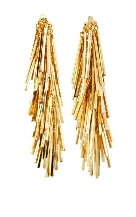 // Eddie Borgo Tinsel Earrings -- would love them in silver!