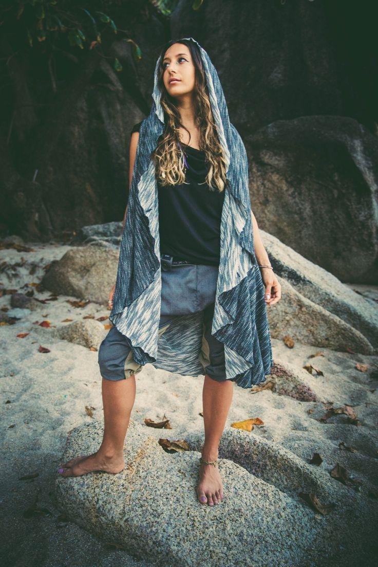 NOMAD - Reversible multi-use vest cloak for Urban wanderers #BedouinCape #ClothingForUrbanNomads #VALODesign #finnishdesign #ethicalfashion #Nomad