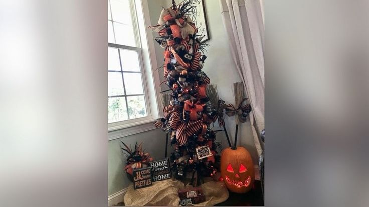 Are Halloween trees a thing? Retailers report record spooky tree sales  She also recommends figuring out ways to re-purpose decorations between Halloween and Christmas. She recently decorated a white Christmas tree with a witches' Halloween theme and will transform the white tree again for Christmas. Target Corp. offers a ...and more  #christmasdecorationthemes http://ift.tt/2yYutWc