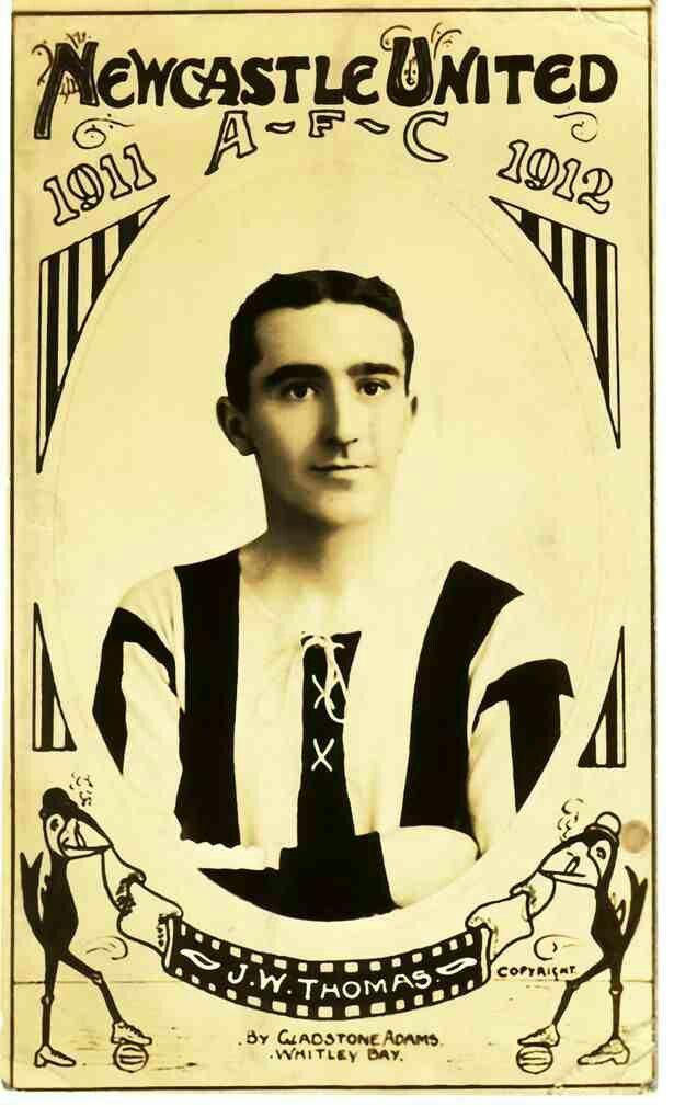 Jack Thomas of Newcastle Utd in 1911.