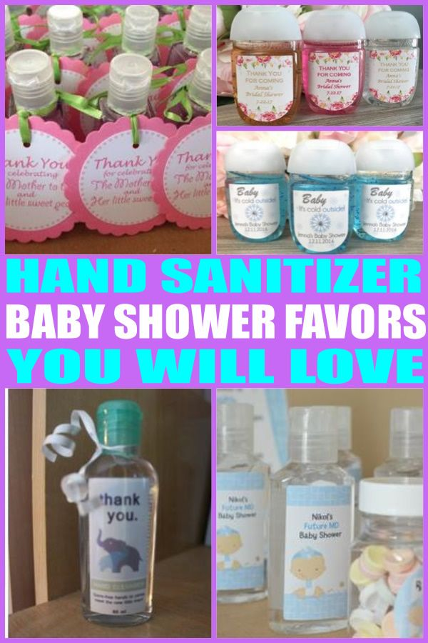 Hand Sanitizer Baby Shower Favors Baby Shower Favors Girl Best