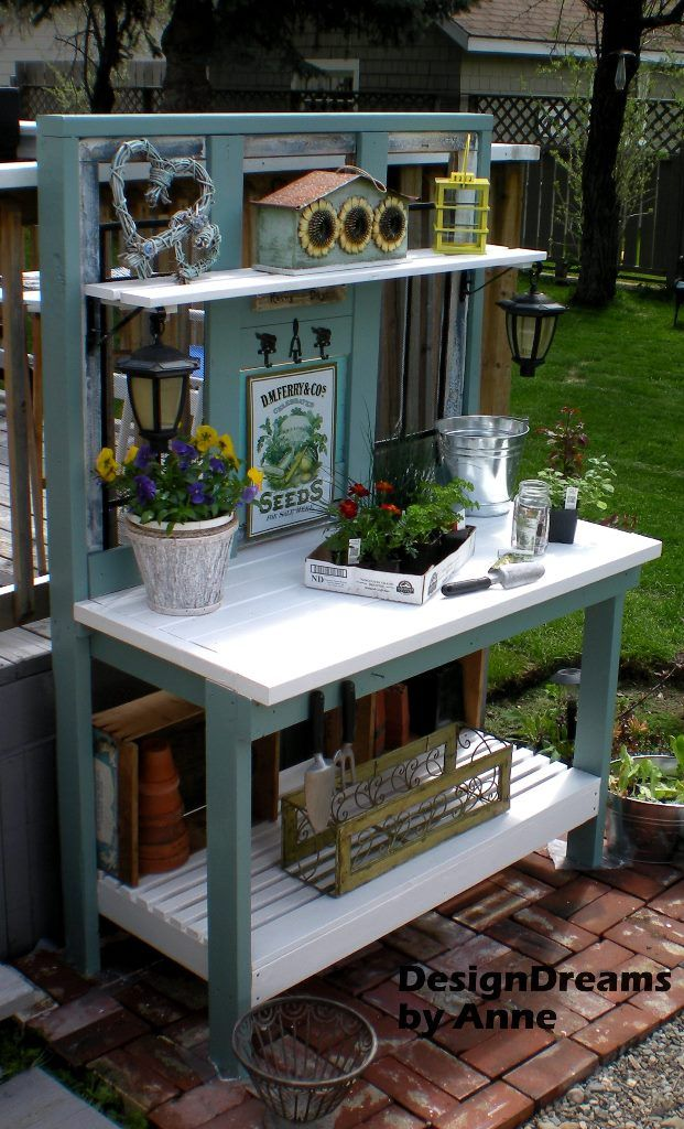 A potting bench is the perfect addition