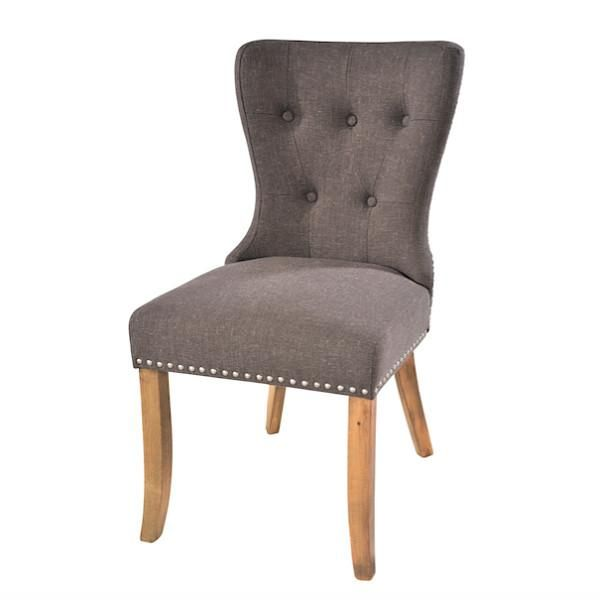 Adele Grey Upholstered Dining Chairs