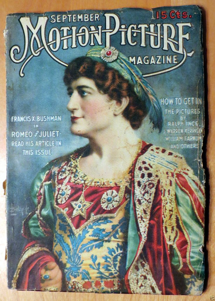 Silent Movie Magazine - Motion Picture Magazine - September 1916 - Francis X. Bushman
