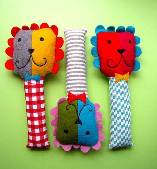 Rattles? Puppets? Friends? Adorable is what they are!