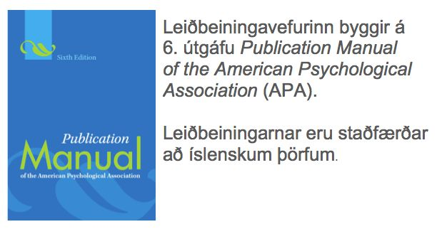 APA manual