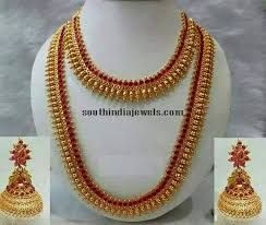 Image result for imitation tamilian style necklace sets