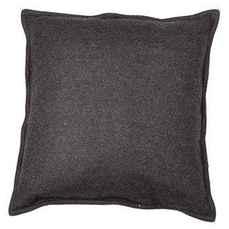 PC 4003. Putetrekk, 50x50 cm, ull, mørk grå