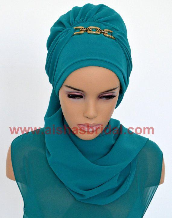 Ready To Wear Hijab  Code: HT-0242  Hijab Muslim by HAZIRTURBAN
