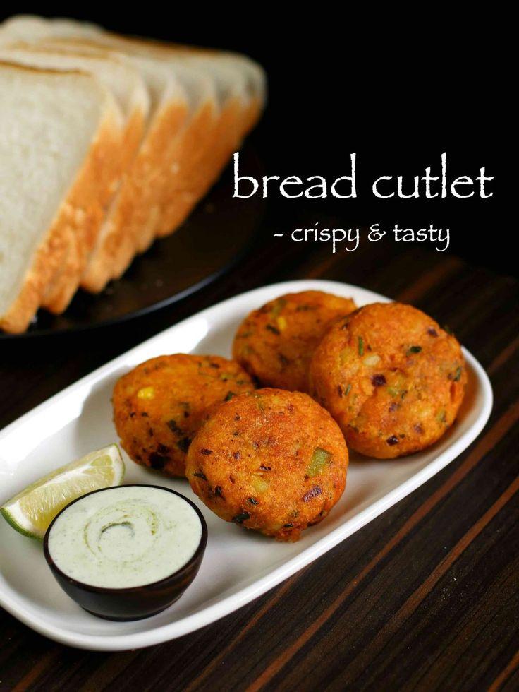crunchy vegetable bread cutlets recipe