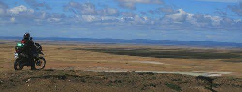 Estepa Patagonica, Rio Gallegos, Santa Cruz, Argentina.