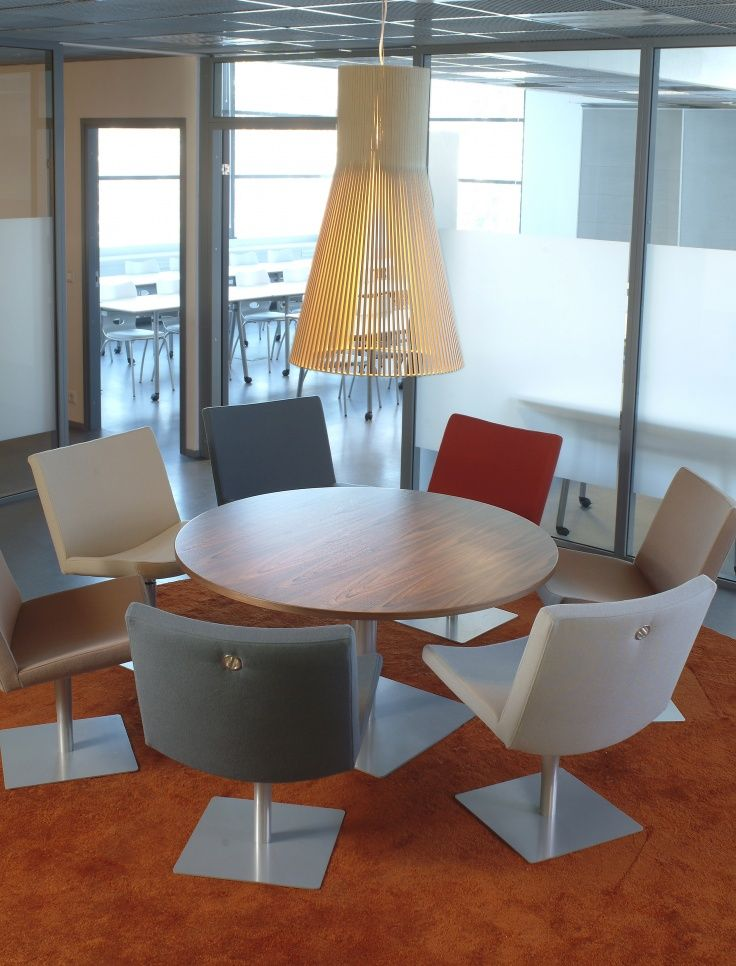 The grand Magnum 4202 in birch by Secto Design at the meeting room of Finnzymes HQ in Espoo, Finland. Photo by: Lasse Keltto. www.sectodesign.fi