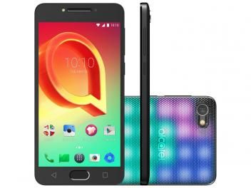 "Smartphone Alcatel A5 LED 16GB Prata Dual Chip 4G - Câm. 16MP + Selfie 8MP Tela 5.2"" Proc. Octa Core"