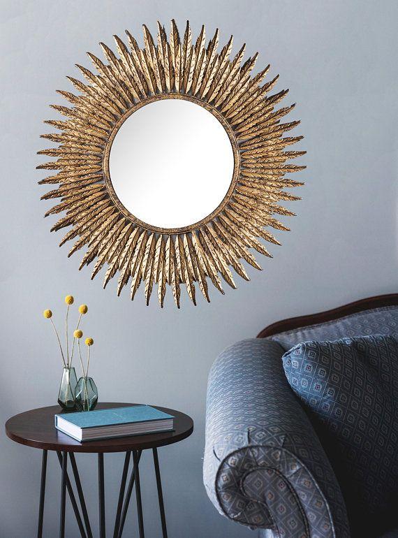 Feathers Mirror Starburst Wall Metallic Sunburst