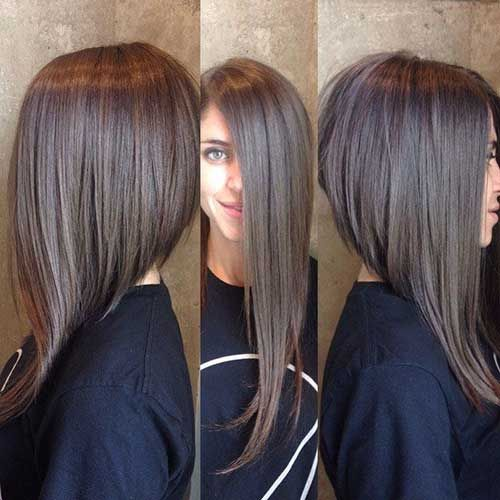 Angled Bob Hairstyles dark long angled bob hairstyles 15 Long Angled Bob Hairstyle Bob Hairstyles 2015 Short Hairstyles For Women