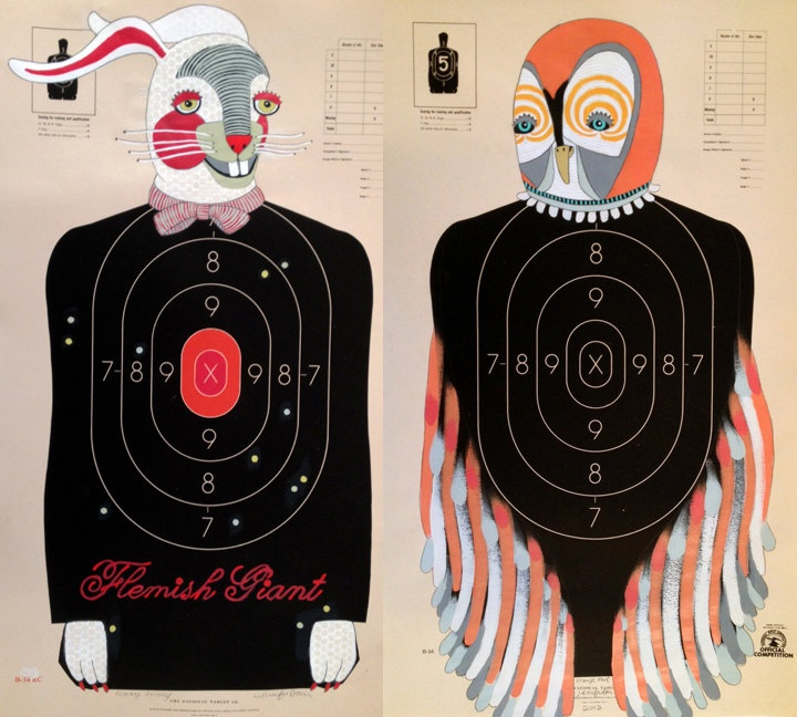 ON HOLD - Custom Hand-Painted Paper Shooting Targets. $100.00, via Etsy.